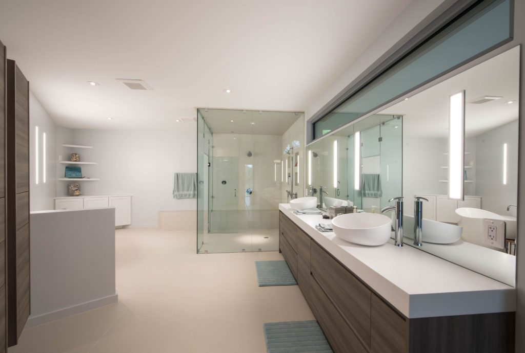 Modern Automated Lighting Bathroom