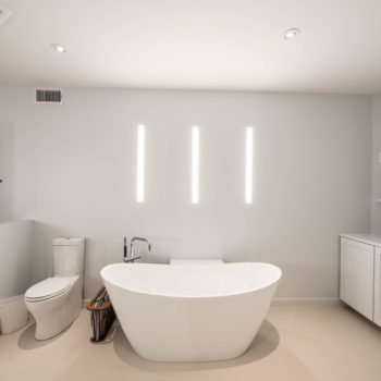 Modern Bathroom Automated Lighting