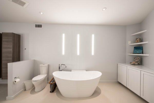 Modern Bathroom Automated Lighting